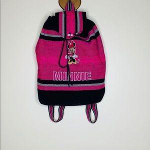Disney |Minnie Mouse Pink Baja Drawstring Backpack
